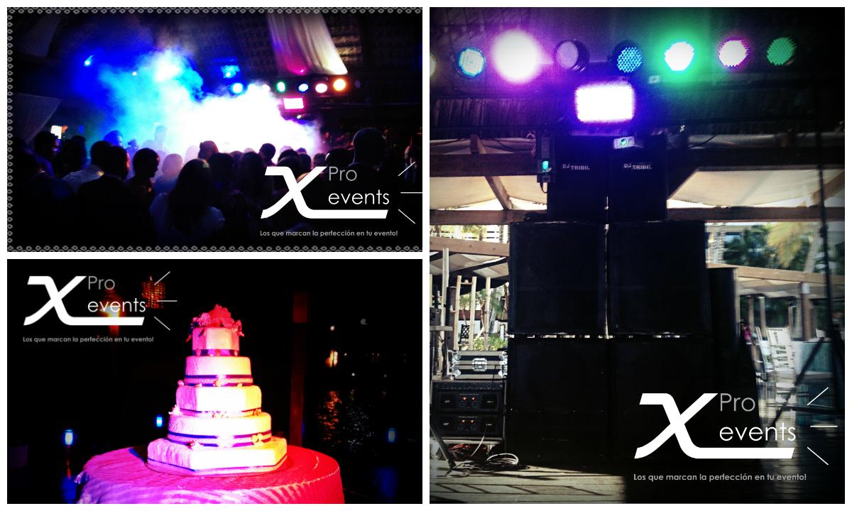 www.Xproevents.com - Sonido Yorkville con iluminacion LED y efectos en Hotel Ham