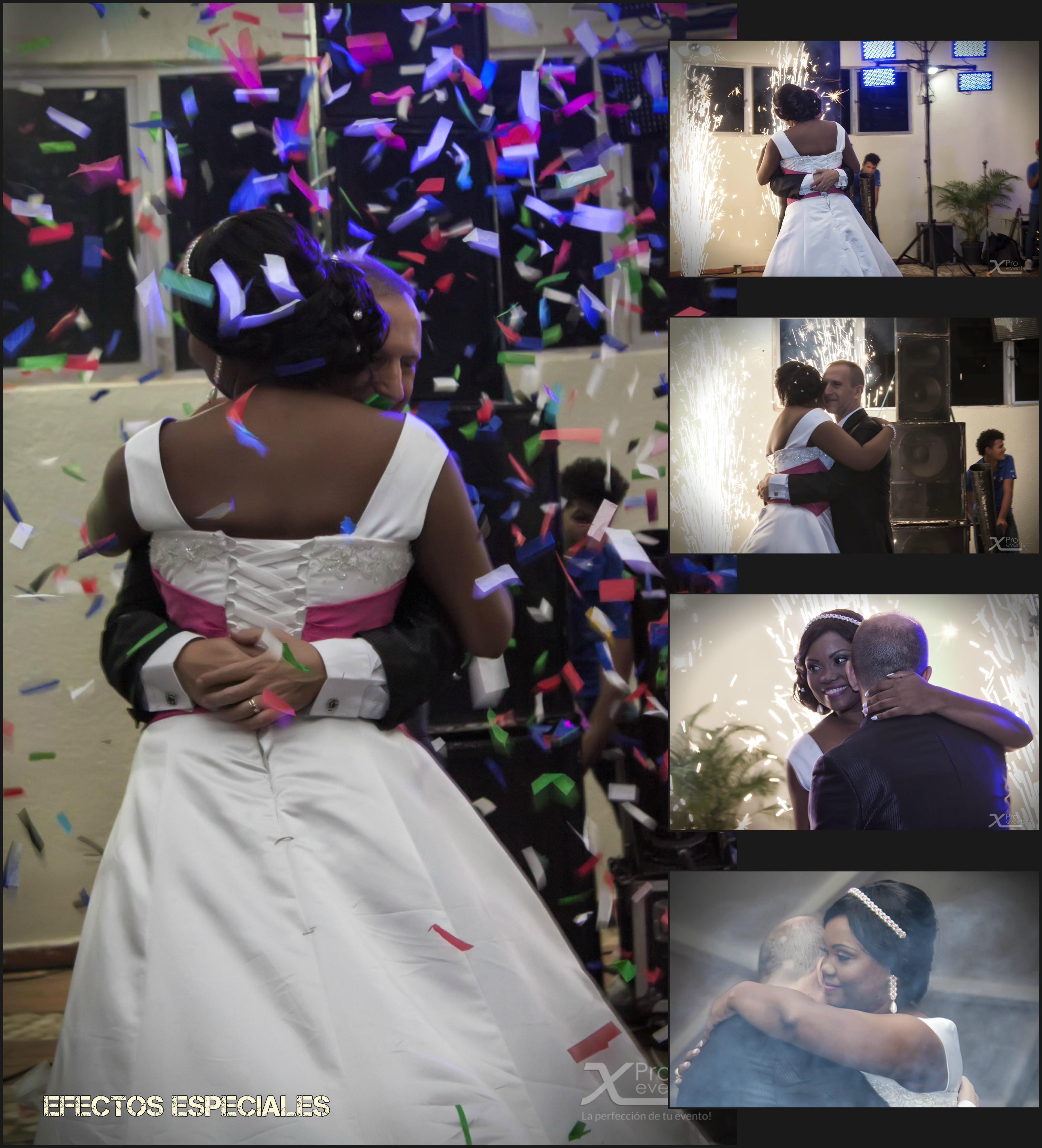 www.Xproevents.com - Efectos especiales en la boda de Juan & Glenny