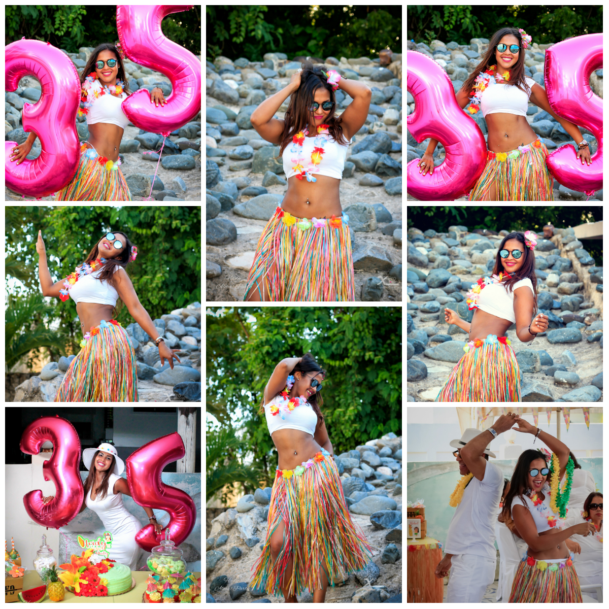 Heidy Aloha Party Collage - X Pro Events