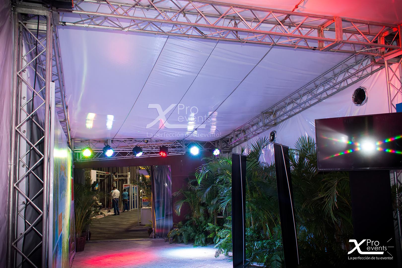 X Pro events - Estructuras y techos con truss de aliminio