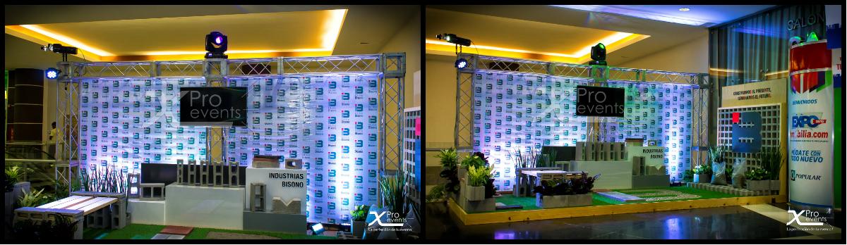 www.Xproevents.com - Montaje de truss & luces para stands