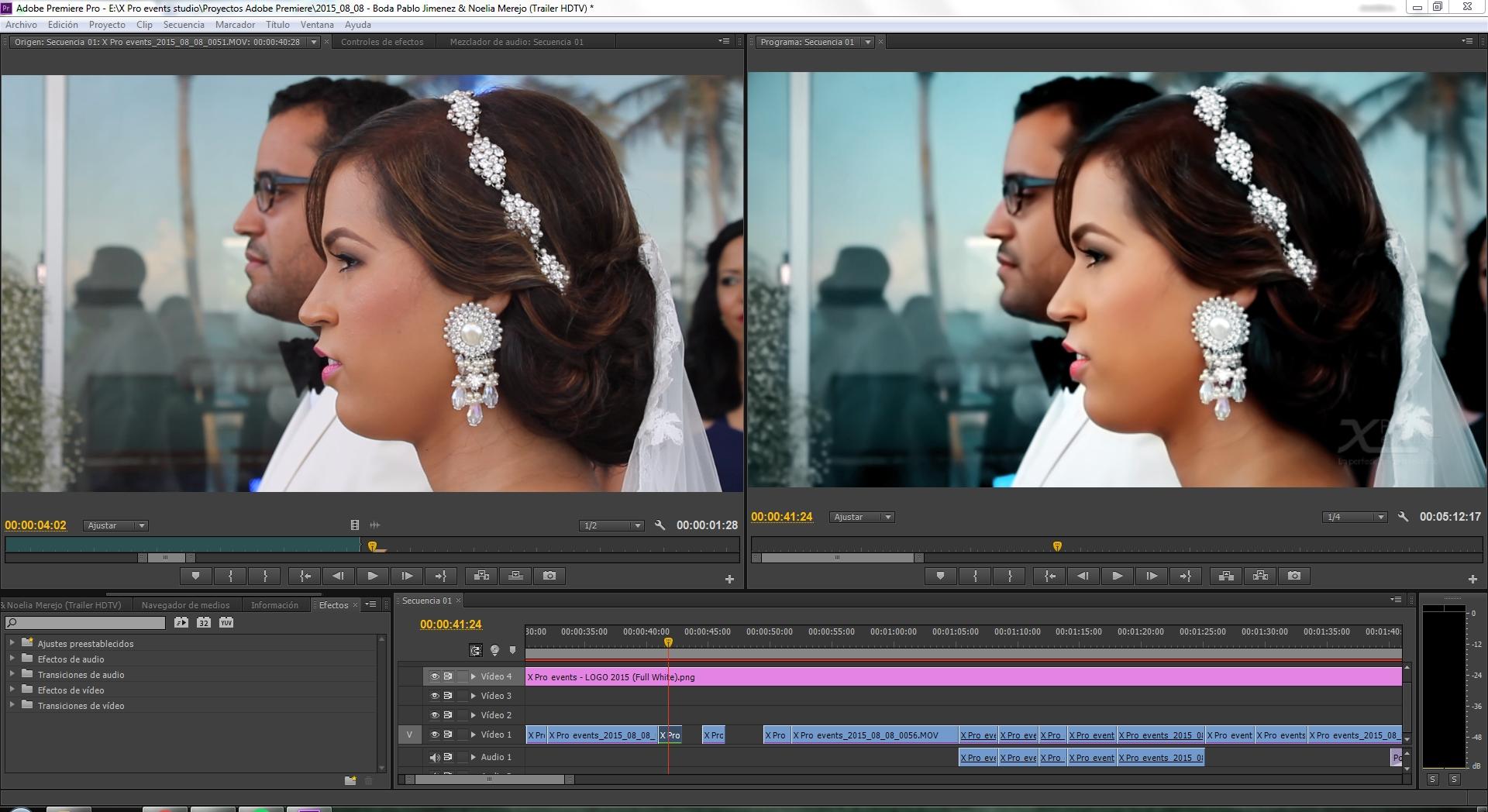 X Pro events studio - Editando trailer Boda Pablo & Noelia