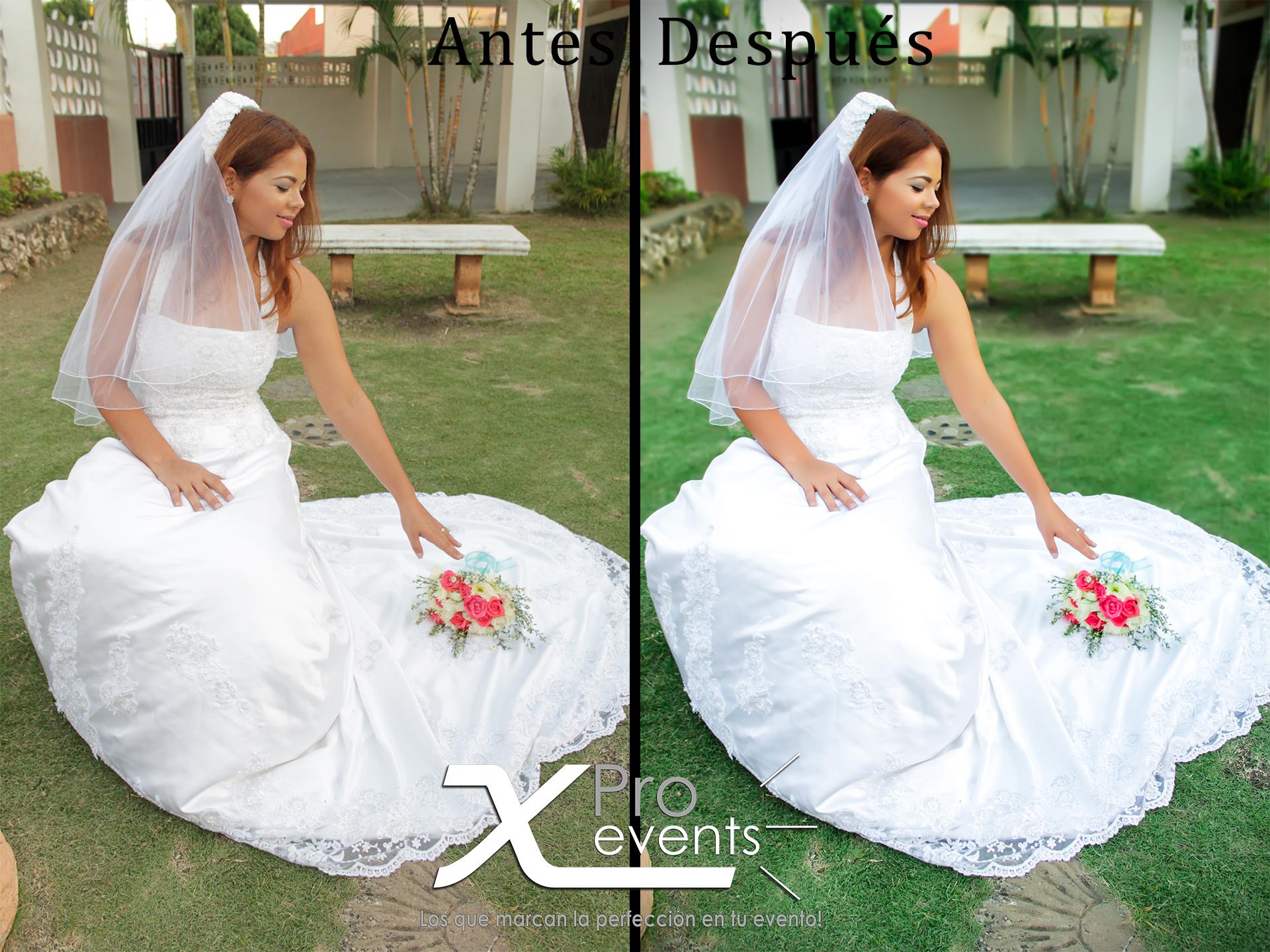 www.Xproevents.com - Antes y Despues de novia sentada alcanzando el ramo.jpg