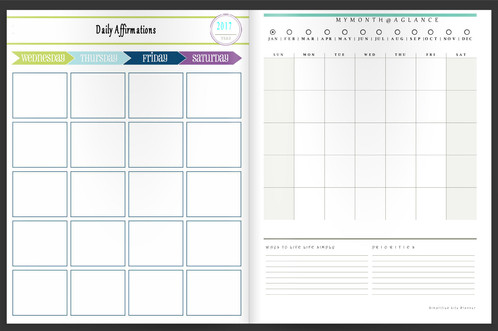 work life balance organizer planner digital download