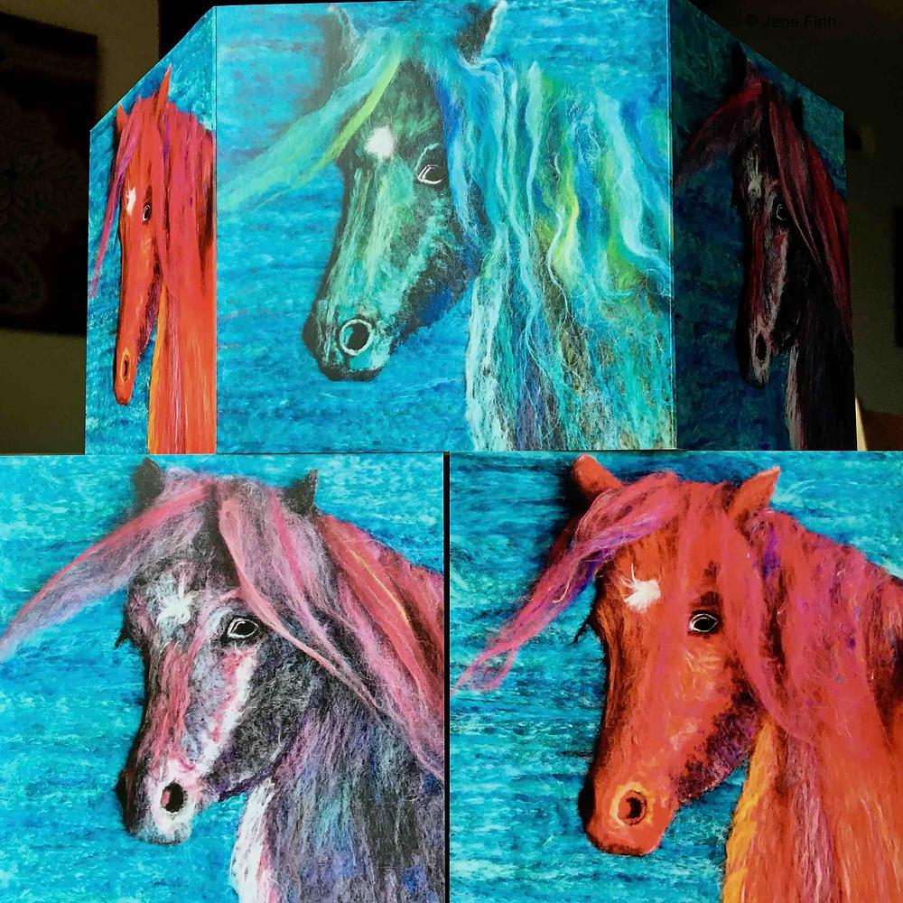Kaleidoscope Fell Pony greetings cards