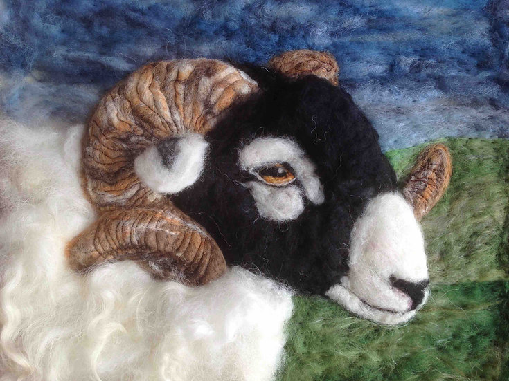 Swaledale ram greetings card