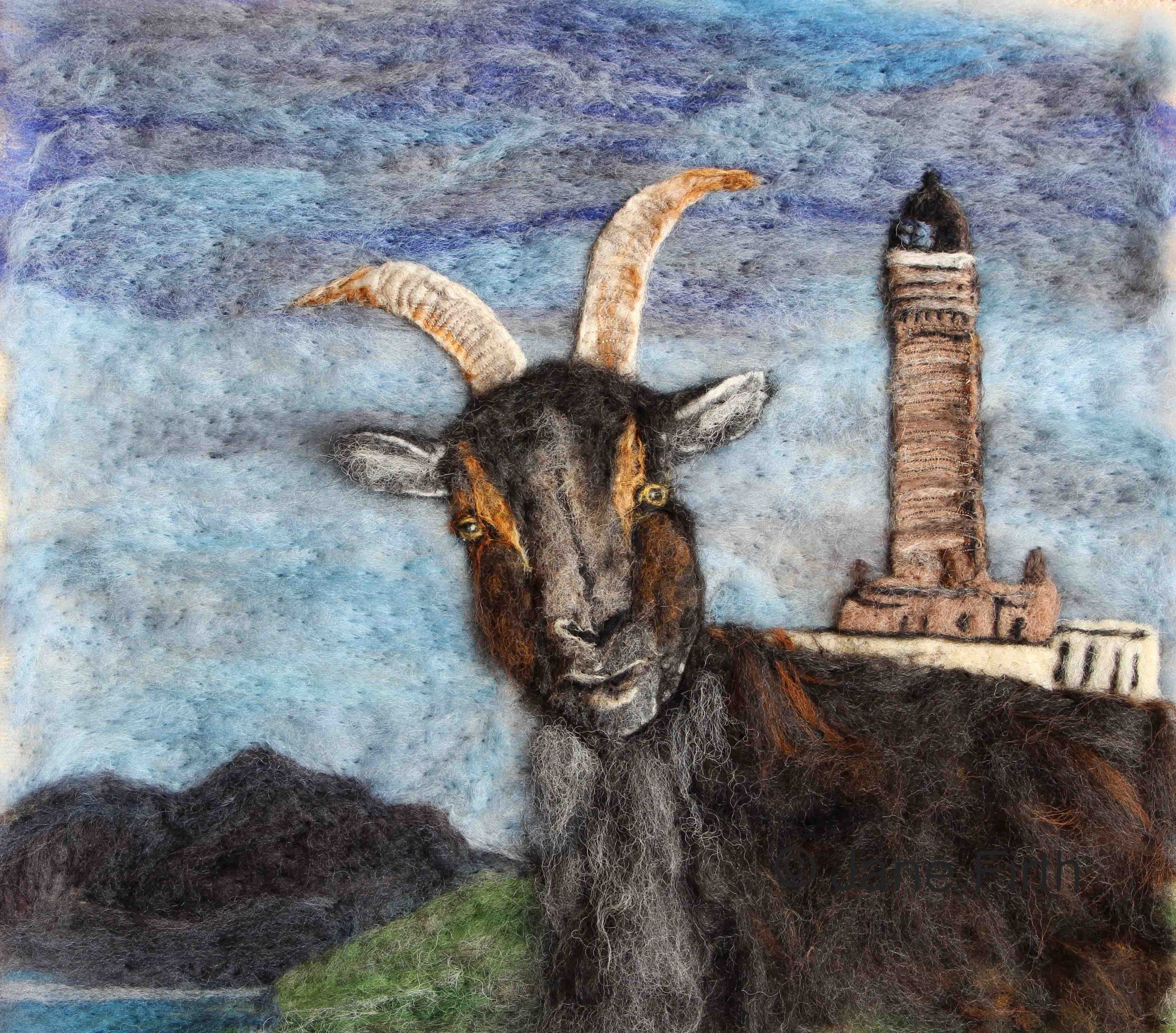 Goat and lighthouse