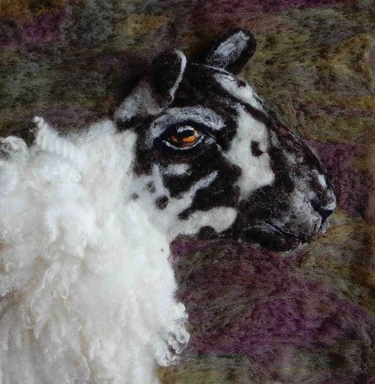 North Country Mule fibre art portrait