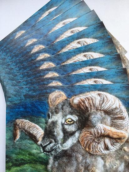 Boreray ram greetings card