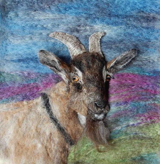 English Goat greetings card