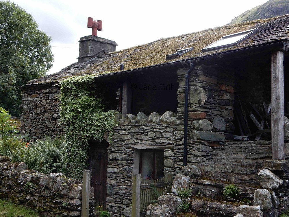 Gallery in Hartsop, Cumbria used for displaying wares to passing wool merchants. Also known as a 'spinning gallery.'