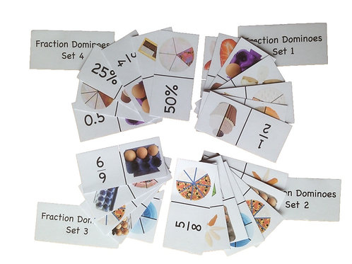 Fraction Dominoes Set 1