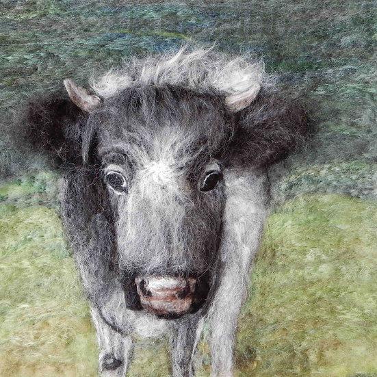 Fibre art portrait of Alice the Albion from Cotswold Farm Park
