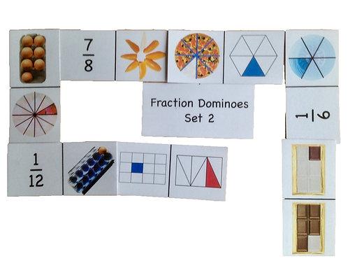 Fraction Dominoes Set 2