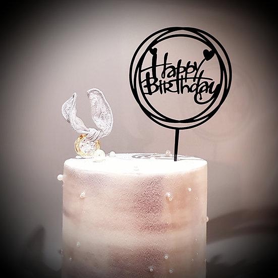 Happy Birthday (Black/Silver/Pink)