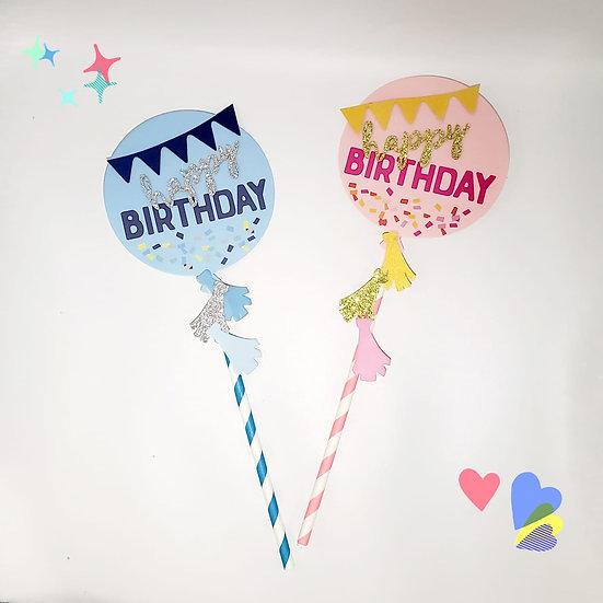 Happy Birthday (Blue/Pink)