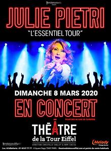 Affich Julie Pietri EssentieThéâtre de la Tour Eiffel Tour
