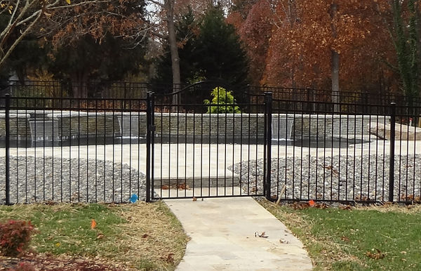 Fence Installed around a Pool