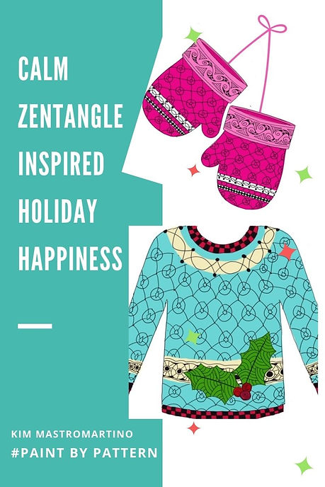 Holiday Happiness Paint by Pattern canva