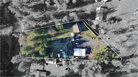 Aerial photo real estate lot lines