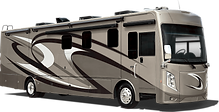 Motor home with windshield wiper