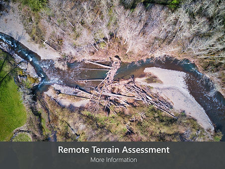 Drone photo of a remote watershed