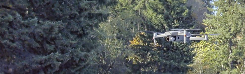 Drone taking aerial photos