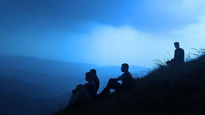 silhouette-people-men-shadow-sitting-on-