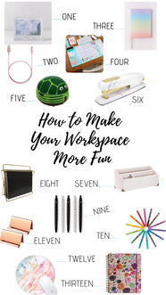 How to make your work space more fun