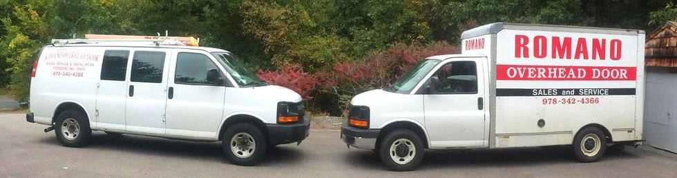 Romano Overhead Garage Door Service Van and Truck