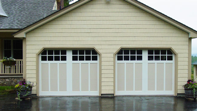 Aluminum Stamped Door 2-Bay Garage Doors