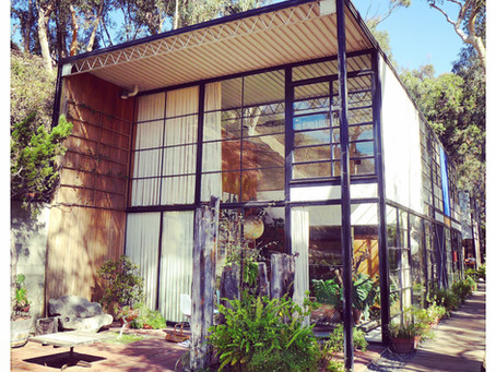 The background to a life in work: a visit to Eames House and Ennis House, Los Angeles CA.