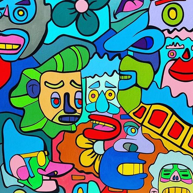 My Homies-acrylic on 60X48in canvas