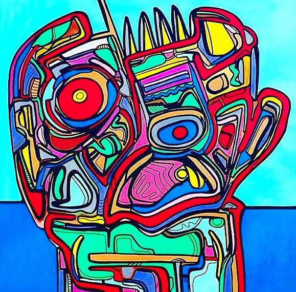 skull-acrylic on 48x48in canvas