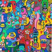 Where's Waldo-acrylic on 24x24in canvas