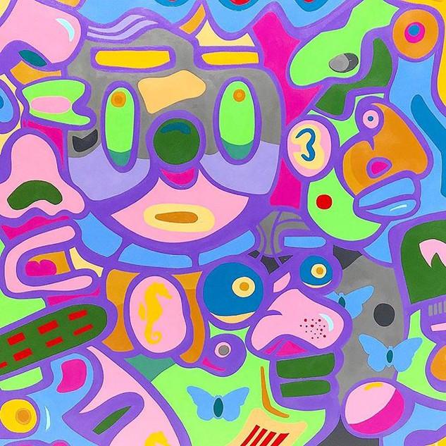 Sascho-acrylic on 36x36in canvas