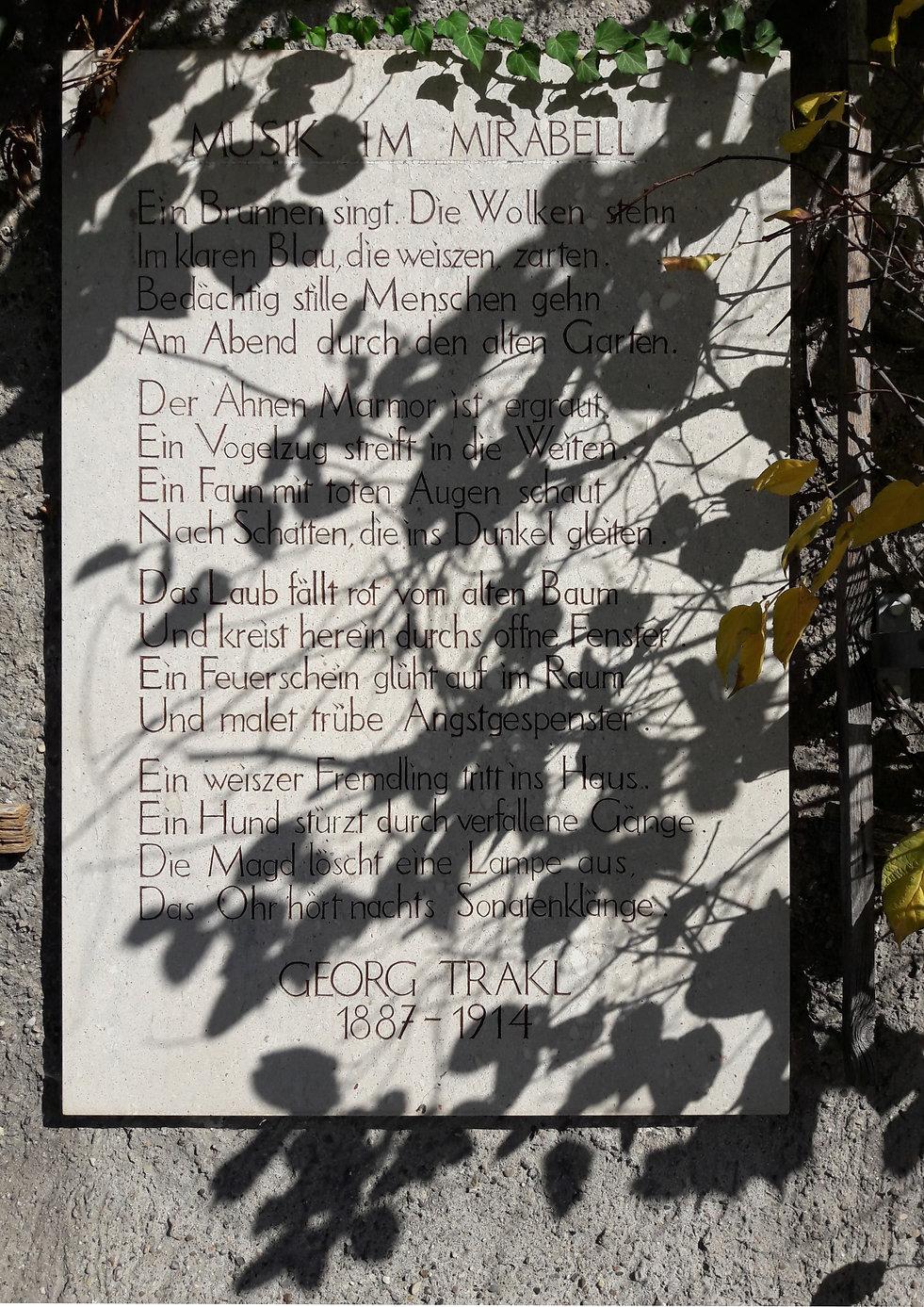 Christiaan Tonnis Salzburg Georg Trakl Gedicht im Mirabellgarten