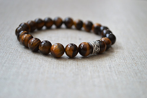 Tiger Eye GrowGlowCo Healing Bracelet