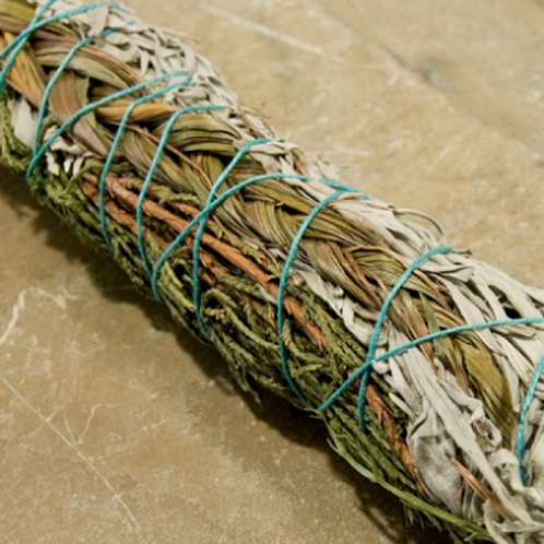 Sage, Juniper & Sweetgrass Stick