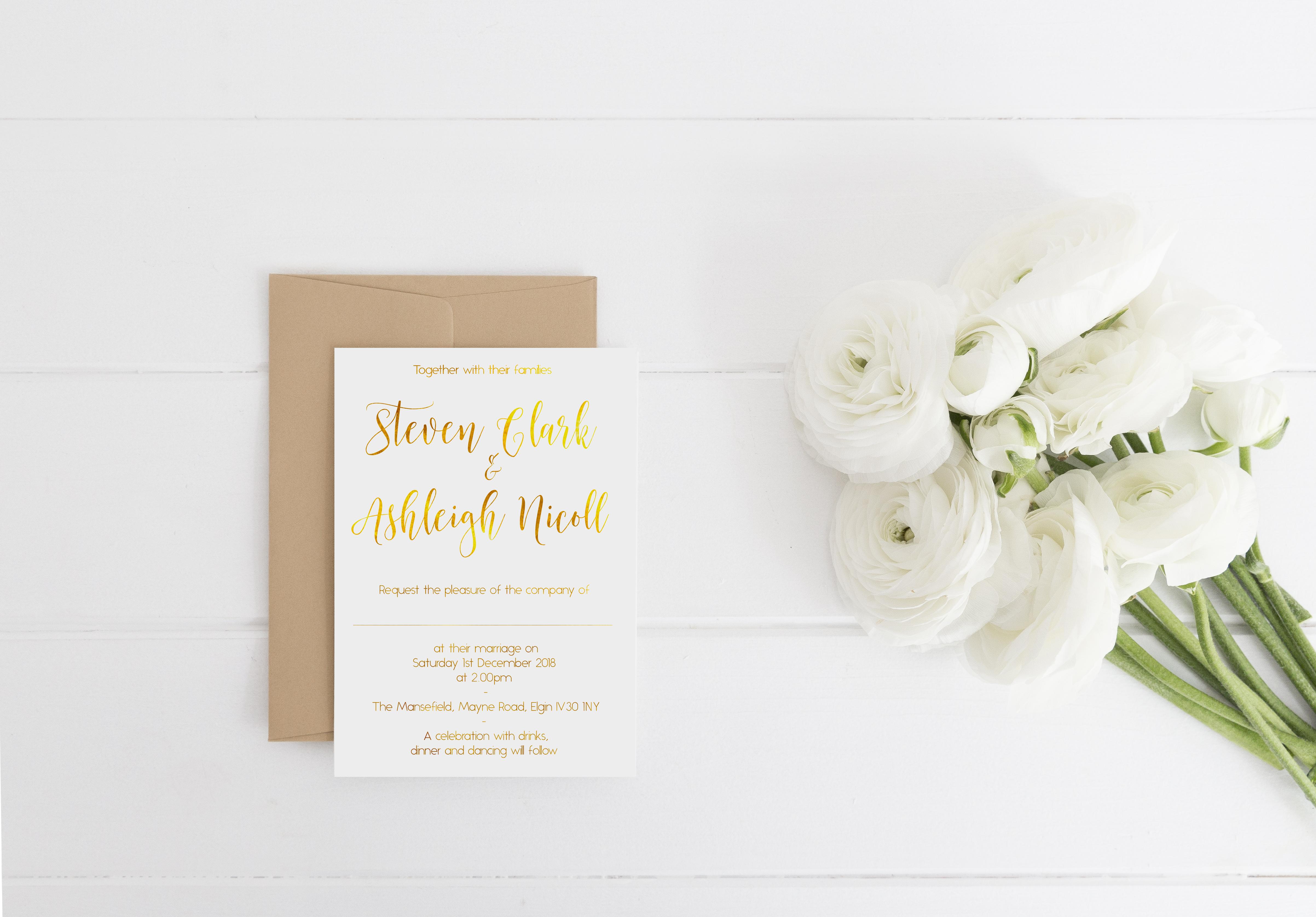 Steven and Ashleigh Invitation