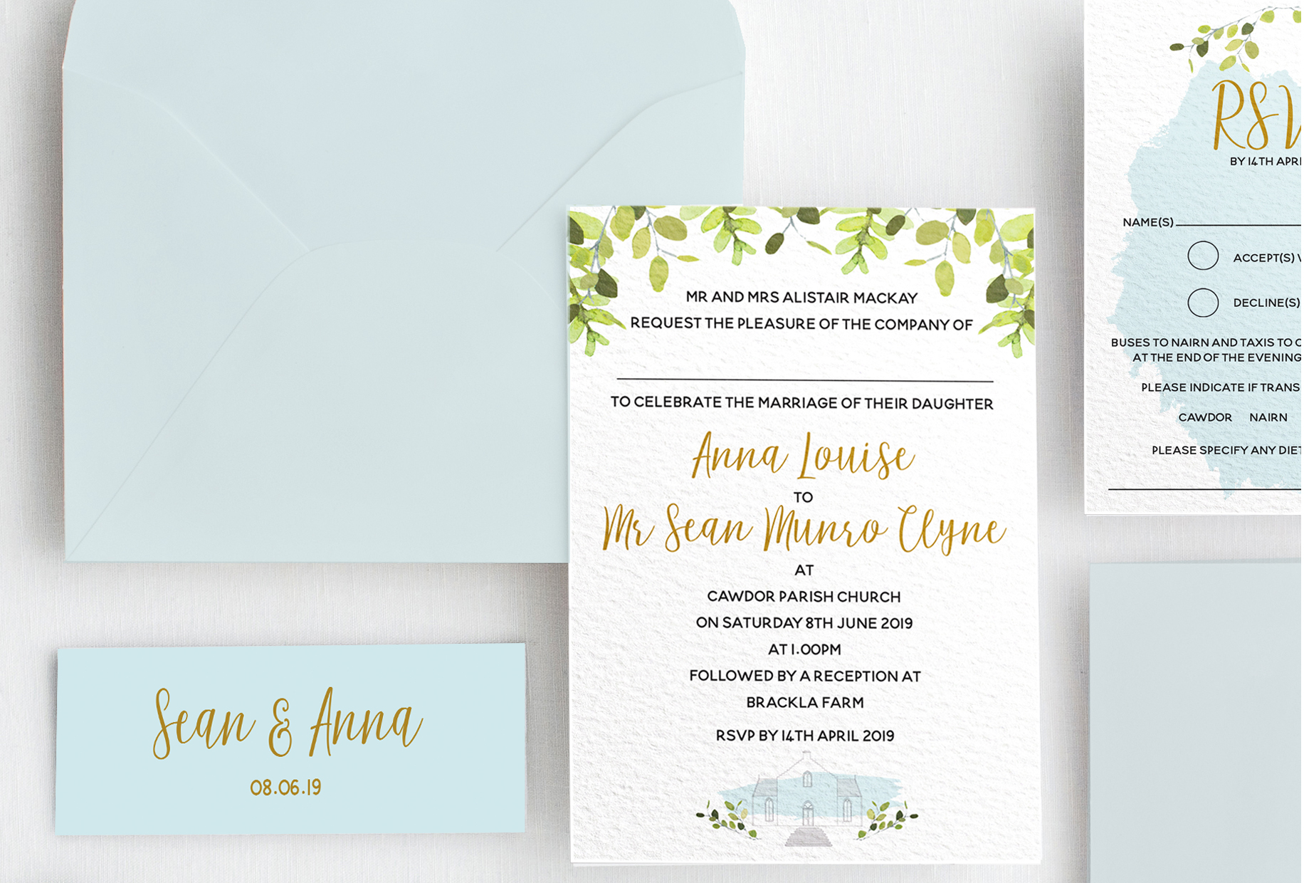 Anna Mackay - Wedding Stationery