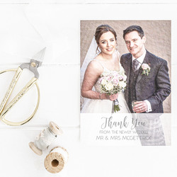 Thank You Card Wedding Stationery White