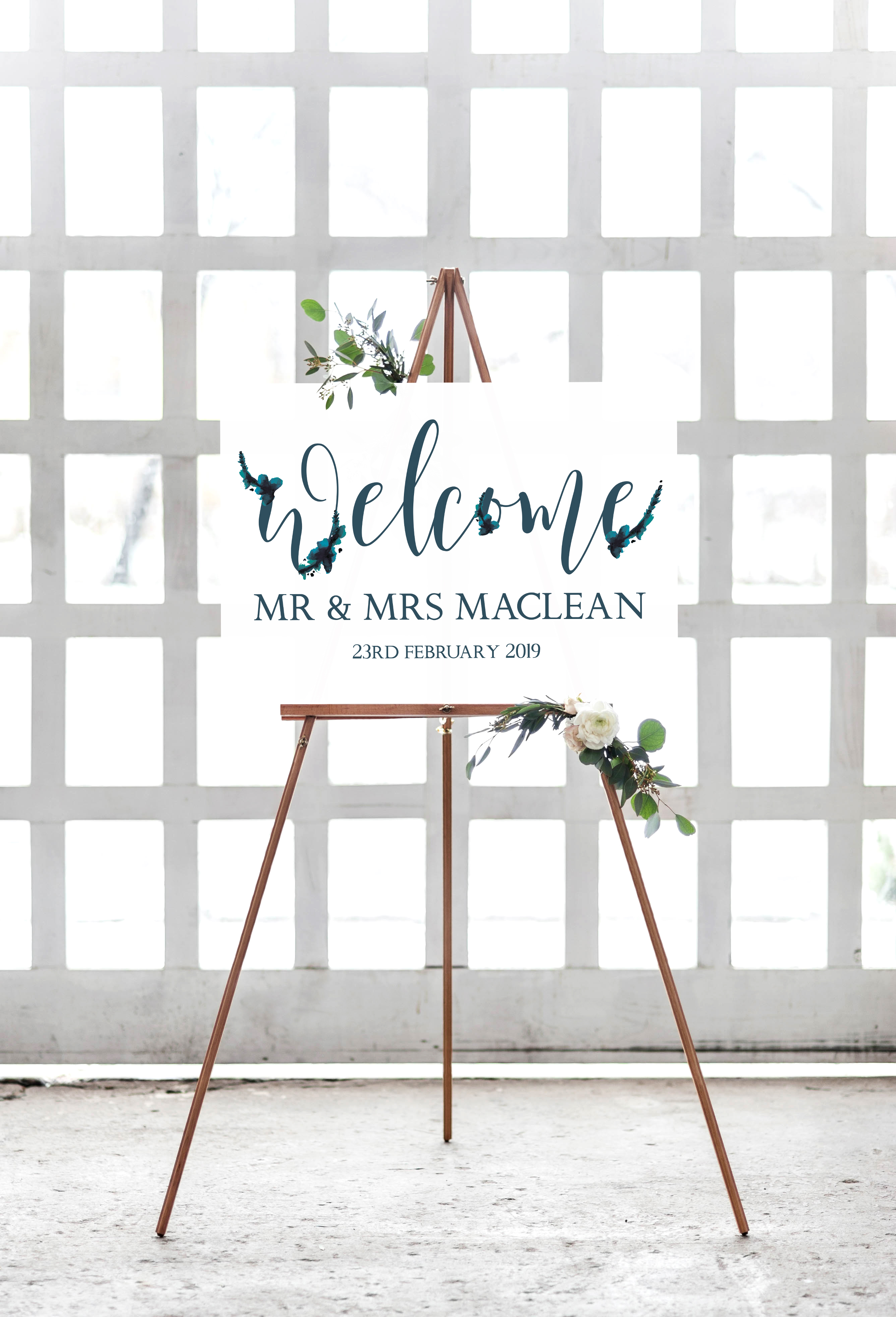 END FEB - Kirsty MacKinnon welcome sign.