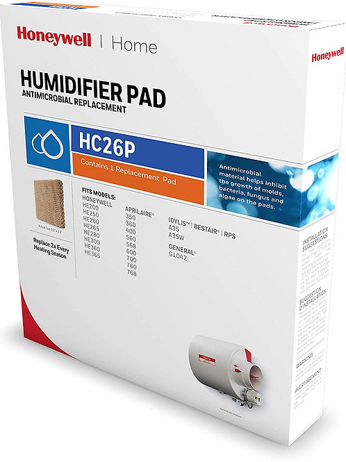 Honeywell HC26P1002 Humidifier Pad, Paper, Anti-Microbial