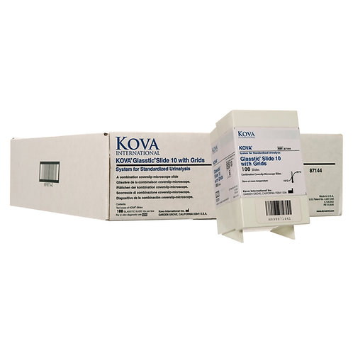 KOVA® Glasstic Slide 10 With Counting Grids