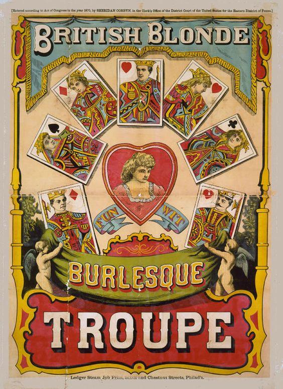 Plagát British Blonde z roku 1870