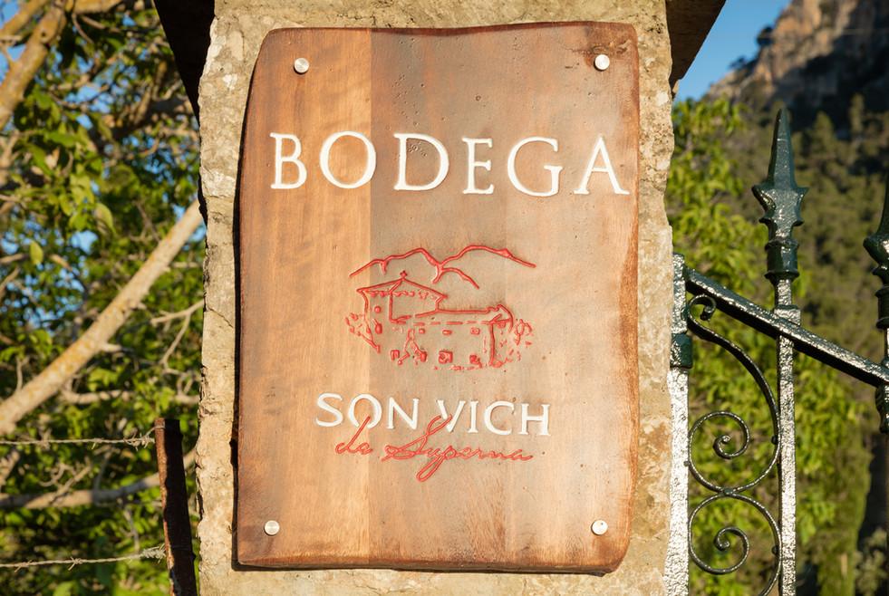 Entrance sign to Bodega Son Vich de Superna