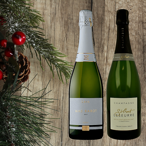 Cava & Champagne Two Pack