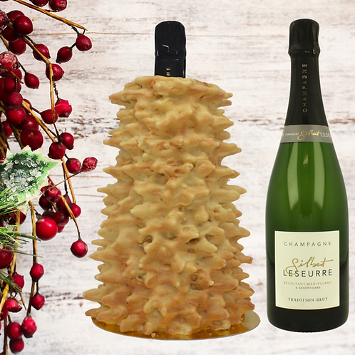 Moli D'Or Tree Cake & Gilbert Leseurre Brut Champagne