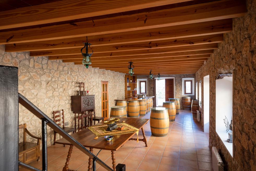 The tasting room and bar at Son Vich de Superna